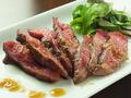 料理メニュー写真道産牛ロース炭焼き