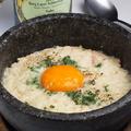 料理メニュー写真石焼きリゾットカルボナーラ