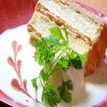 料理メニュー写真ミルフィーユケーキのアイス添え