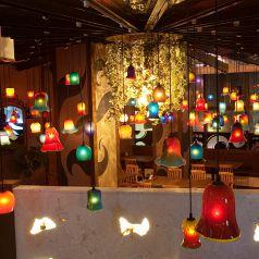 2名様~ご案内★琉球ガラス製の照明が彩る