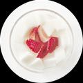 料理メニュー写真新鮮果実入り杏仁豆腐
