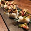 料理メニュー写真一口サイズのバラ寿司