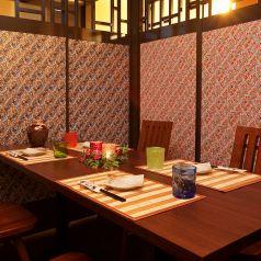 テーブル式の半個室/個室あり