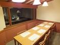 別館1階風の間。庭に面した6~8名様の個室