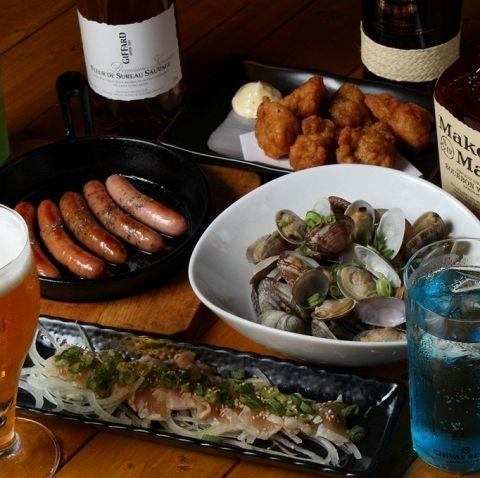 【お料理6品+2.5H飲み放題付】3800円コース