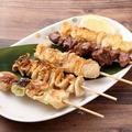 料理メニュー写真焼き鳥 串盛り5種