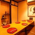 接待や各種宴会におすすすめの個室もご用意しております。3~8名様までご利用できます。