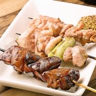 銘柄鶏「紅ふじ鶏」を使った炭火串焼!