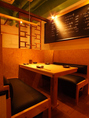 ボックステーブル席はカジュアルな空間を!(2名様~)