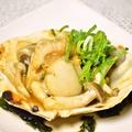 料理メニュー写真帆立一枚柚子醤油バター焼き
