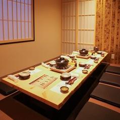 和の雰囲気が今宵の宴会を盛り上げる!掘りごたつ個室は接待や会社宴会に人気。