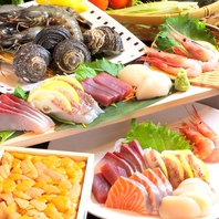 瀬戸内・播州灘等の新鮮魚介を使用!刺し盛は1000円から