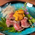 その他当店で扱うお肉やお野菜も自慢です!地元群馬産の上州牛や銘柄豚、とれたての旬な地物野菜をふんだんに使用しております。
