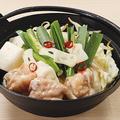 料理メニュー写真特製濃厚鶏白湯の牛もつ鍋 1人前