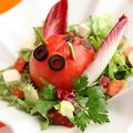 料理メニュー写真モッツァレラとバジルのてんとう虫サラダ