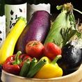 四季を舌で感じて頂くために、日替わりメニューやせいろ蒸しバーニャカウダ・おばんさいに旬の野菜をふんだんに使用しています。