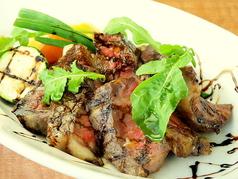 料理メニュー写真北海道産牛ロース肉のビステッカ
