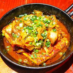 豆腐と焼き肉キムチの【じゅうじゅう】ステーキ