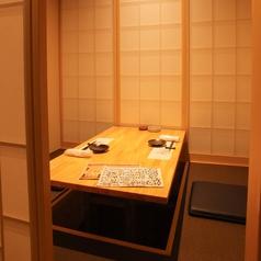 小さ目の4名様用個室は、デート、接待、ご家族での会食に最適◎周りを気にせずプライベートな会話ができます!