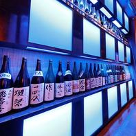 40種以上の日本酒も自慢♪宮城の地酒や全国各種のお酒