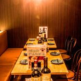 ご来店頂いた皆様にゆったりとお過ごし頂ける空間造りとなっております♪カジュアルながらもスタイリッシュなオシャレ空間は、上野・御徒町エリアでの女子会や合コンや二次会などの各種ご宴会に最適です◎最大3時間の飲み放題付き宴会プランは3500円~各種ご用意♪当店自慢の厳選肉バル宴会プランをご堪能ください♪
