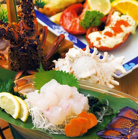 吟味された新鮮な海の幸、中でも味覚の王者、伊勢海老料理を存分に味わって頂くお店。