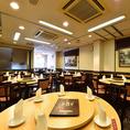 【3Fフロア貸切】20名~56名までテーブル席はお気軽に使いやすい席配置です!