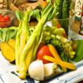 生野菜・蒸し野菜・グリルなど・・・。季節に合わせて一番おいしい状態でご提供します