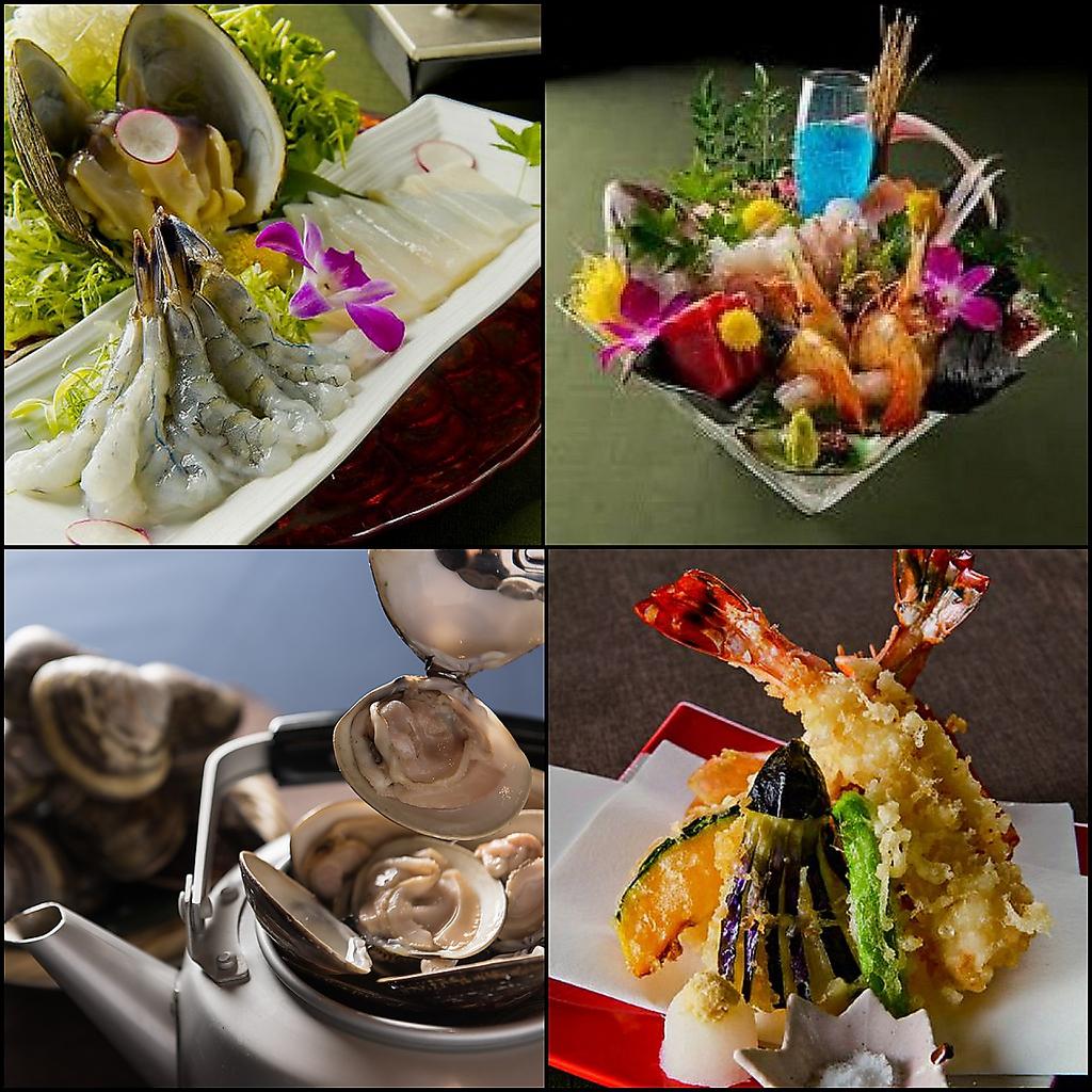 お寿司から、鍋料理。海鮮まで豊富な料理を堪能できます