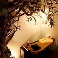 【1階】流木が聳え立つゆったり6名個室