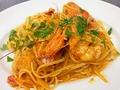 料理メニュー写真リングイネ 海老のトマトクリームソース