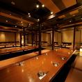 ◆最大70名◆会社宴会や2次会など各種団体様におすすめのお部屋◆全員の顔が見えて幹事様の移動もスムーズ♪