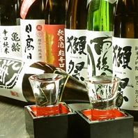地酒を含む日本酒や梅酒・焼酎を種類豊富にご用意!