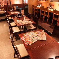 突発的な飲み会でも気軽に使えるテーブル席