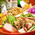 選べる3種のお鍋付きコース3800円♪【2】胡麻香る坦々鍋★3種からお好きなお鍋を選んで頂ける大人気のパーティコース!!