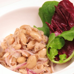 料理メニュー写真ツナと白インゲン豆のサラダ