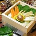 """【9""""36(ギュウサム)】サービス:野菜の蒸し蒸籠も!"""