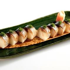 料理メニュー写真炙り〆さば棒寿司