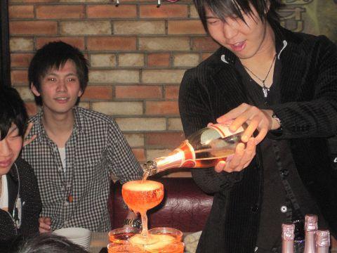 サプライズに最適♪シャンパンタワー!!