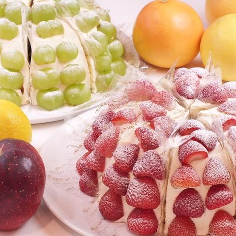 果物をふんだんに使ったフルーツパーラー☆旬のフルーツを思う存分召し上がれ♪