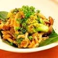 料理メニュー写真つぶ貝と野菜の練り雲丹炒め