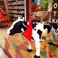 看板牛の「みっちゃん」時期に合わせたスタイルでオシャレします♪