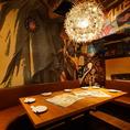 4~8人までの飲み会や宴会に最適の個室!!ゆったりとくつろげる空間。