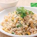 料理メニュー写真ジンホアチャーハン(スープ付き)