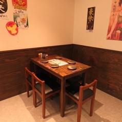 5名様用のテーブルもご用意しております。