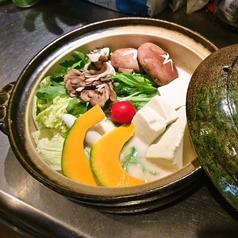 夏野菜たっぷりのトマト豆乳鍋