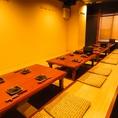 ほりごたつ席でゆったり宴会を。貸切24~36名様まで◎(カウンター含む)1フロア18名、10名まで着席できます。