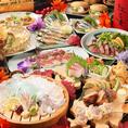 <お酒に合う!九州ご当地料理多数♪>何を注文するか迷ったら、まずはこれ!とり天や馬刺し、肉巻きおにぎりなど、九州各地にちなんだ『うまか』自慢の逸品を豪快に盛り込んだ大皿一品です。