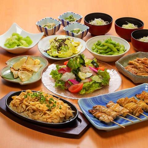 賑わいコース(料理10品)+ 飲み放題2時間 ⇒ 3,500円(税込)