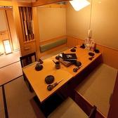 2~8名様の完全個室、人気のお部屋です